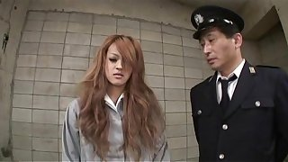 Asian sexy and long hair a suspect woman getting sex all hole at the jail