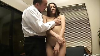 Nozomi Mashiros job interview includes tit and pussy sucking