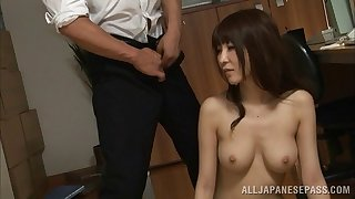 Sucking cocks like an expert and taking their cum in her mouth