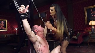 Dominant Asian pro fucks her male slave in brutal XXX scenes